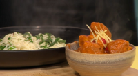 Nisha Katona served up a Indian mother butter chicken with spinach emerald rice curry on Sunday Brunch. The ingredients are: 5 tbsp vegetable oil, 5 tbsp, 2 large white onions,...