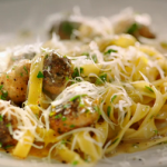 Jamie Oliver easy carbonara with sausage meatballs recipe