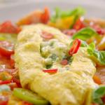 Jamie Oliver Scrambled egg omelette with mozzarella and chilli recipe