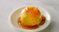 Jamie Oliver served up speedy and sticky steamed puddings with marmalade syrup cooked in a microwave oven on Jamie's Quick and Easy Food. The ingredients are: 375 g chunky marmalade,...