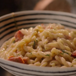 Nigella Lawson Gemelli pasta with a anchovies, tomatoes and mascarpone sauce recipe