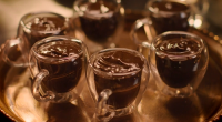 Nigella Lawson served up a delicious Iberian inspired chocolate olive oil mousse dessert on Nigella: At My Table. The ingredients are: 150g dark chocolate, 70% cocoa solids, roughly chopped, 100ml...