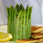 Paul Ainsworth crown of asparagus with Cornish crab and rapeseed mayonnaise recipe