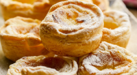 Simon Rimmer served up Portuguese custard tarts on today episode of Sunday Brunch. The ingredients are: 300g rolled puff pastry, 3 yolks, 125g sugar, 30g cornflour, 225ml double cream, 175ml...