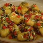 Gino D'Acampo ndunderi pasta with vegetable sauce on Gino's Italian Coastal Escape