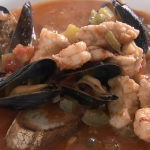 Rick Stein fish stew with monkfish, mussel and prawn  recipe on Rick Stein's Road To Mexico
