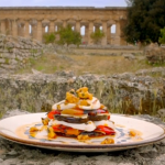 Gino's aubergine, mozzarella and roasted red pepper stack recipe