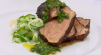 Paul Ainsworth served up hay smoked lamb rump with creamed cucumber and salsa Verde on Royal Recipes with Michael Buerk. See recipes for the Royal family in the book titled:...