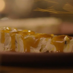 Nigella Lawson passion fruit ice cream cake with coconut caramel sauce recipe