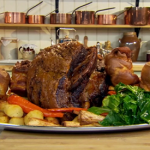 Anna Haugh English roast beef with Yorkshire pudding and gravy (beouf roti a l'anglaise) recipe on Royal Recipes