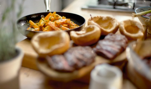 Matts skirt steak feast with yorkshire pudding recipe on save see matts recipes from the series in the book titled save money good food family feasts for a fiver family feasts for a fiver save money good food forumfinder Choice Image