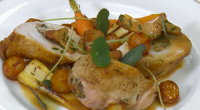 Rob Kennedy served up supreme of chicken stuffed with wild mushrooms on Royal Recipes with Michael Buerk. Rob previously cooked the dish for Prince William at his graduation from the...