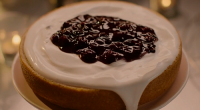 Nigella Lawson served up a lemon tendercake with blueberry compote and a coconut milk yoghurt on Nigella: At My Table. The ingredients are: 225g plain flour, 1½ tsp baking powder,...