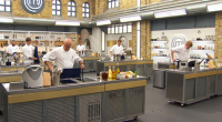 Richard from Northampton, Leo from Birmingham, Alexander from Suffolk, Jordan from Devon, Joe from Cornwall and Tom from London, took on Monica Galetti's fish head challenge producing fish cheeks recipes...