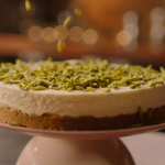 Nigella Lawson white chocolate cheesecake with gingernut recipe on Nigella: At My Table
