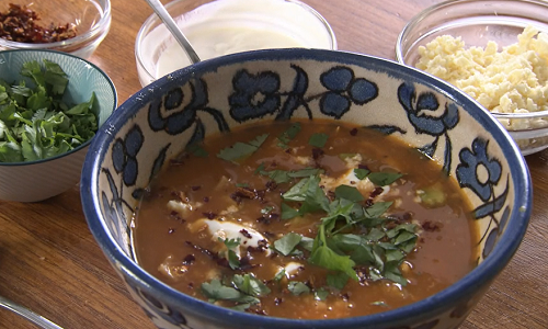 Rick Stein served up a tasty Mexican Aztec soup with chicken, tortilla strips and avocado on Rick Stein's Road To Mexico. See all of Rick's Mexican inspired recipes in his...