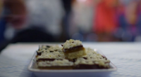 Paul Hollywood served up delicious millionaire's shortbread with caramel and macadamia nuts topping on Paul Hollywood: A Baker's Life. The ingredients are: 150g butter, 75g caster sugar, 175g plain flour,...