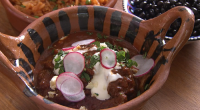 Rick Stein served up a tasty Mexican carne con chile stew on Rick Stein's Road To Mexico. The ingredients are: 50g dried guajillo chillies, seeds removed, 4 large ripe tomatoes,...