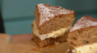 Simon Rimmer serve up a delicious alternative Christmas cake for the festive season on Sunday Brunch. The ingredients are: 3 large eggs, weigh them in their shells, That same weight...