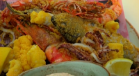 Gino D'Acampo served up mixed fried seafood with spicy lemon mayonnaise (fritto misto) on Gino's Italian Coastal Escape. The ingredients: 2 whole medium squid, about 200g in total, 8 fresh...