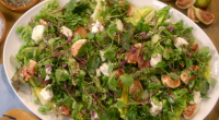 Mary Berry served up a tasty midsummer asparagus, goats' cheese and fig salad on Mary Berry's Country House Secrets. The ingredients are: 100g podded broad beans (or 600g if in...