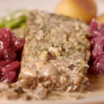 Bikers nut roast with cranberry sauce and  mushroom gravy recipe