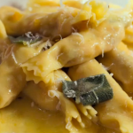 Jamie Oliver cracker ravioli with chestnuts and butternut squash recipe on Jamie's Italian Christmas