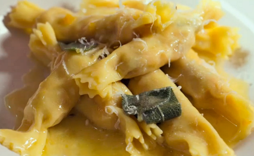 Jamie Oliver cracker ravioli with chestnuts and butternut squash
