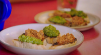 Jamie Oliver served up a seasonal pesto genovese on Jamie and Jimmy's Friday Night Feast. See more recipes from Jamie in his new book titled: 5 Ingredients – Quick &...