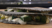 Rick Stein served up quesadilla with courgette flowers, jalapeno chilli and cheese on Rick Stein's Road To Mexico. See Jamie's Christmas recipes in his book titled: Jamie Oliver's Christmas Cookbook...