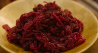 Nigella Lawson served up braised red cabbage in cranberry sauce for the festive season on the Christmas episode of Nigella: At My Table. See the recipe in Nigella's new book...
