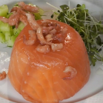 Paul Ainsworth smoked salmon and shrimp timbale recipe on Royal Recipes