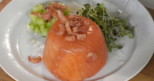 Paul Ainsworth Smoked Salmon And Shrimp Timbale Recipe On