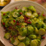 Nigella Lawson sprout casserole with pomegranate recipe