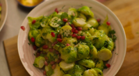 Nigella Lawson served up a tasty sprout casserole with pomegranate on the Christmas episode of Nigella: At My Table. See the recipe in Nigella's new book titled: At My Table:...
