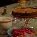 Nigella Lawson sunken chocolate amaretto cake with crumbled amaretti cream recipe
