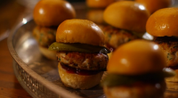 Mary Berry served up mini turkey and cranberry burgers for the festive season on Mary Berry's Christmas Party. See mary's recipes in her new book titled: Mary Berry's Complete Cookbook:...
