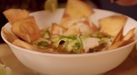 This Mexican-influenced soup garnished with baked tortillas is a real winter warmer. The Hairy Bikers say it is a great way to use up leftover turkey this festive period when...