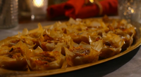 Mary Berry served up warm squash with cranberry and brie tarts for the festive season on Mary Berry's Christmas Party. See mary's recipes in her new book titled: Mary Berry's...