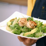 Stacie Stewart scallops with rocket and avocado salad for the Diet App plan on How to Lose Weight Well