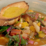 Nigel Slater adaptable bean soup with chard leaves recipe on Saturday kitchen