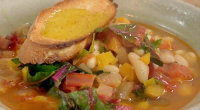 Nigel Slater served up a tasty adaptable bean soup with chard leaves and French bread on Saturday kitchen. The ingredients are; 2 onions, 2 carrots, 2 tbsp olive oil, plus...