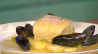 Simon Rimmer served up a tasty butter poached cod with mussels on Sunday Brunch. See more recipes from Simon Rimmer in the book titled: Something for the Weekend: 60 fabulous...