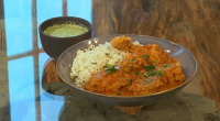 Maunika Gowardhan served up a tasty keralan chicken curry with mint and coriander rice and on Saturday kitchen.