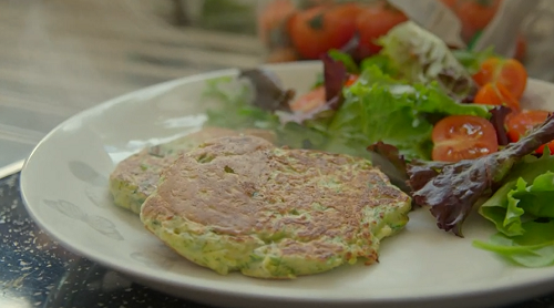 Tom kerridge quick and easy courgette fritters recipe on lose weight see toms recipes in his book titled lose weight for good full flavour cooking for a low calorie diet forumfinder Images