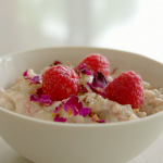 Tom Kerridge rice pudding with raspberries recipe on Lose Weight For Good