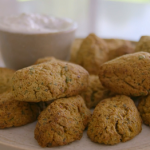 Tom Kerridge low calorie baked falafel with tzatziki recipe