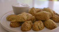 Tom Kerridge served up tasty low calorie baked falafel with tzatziki on Tom Kerridge's Lose Weight For Good. The ingredients are: 1 tsp olive oil, 2 small onions (200g in...