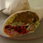 Tom Kerridge low calorie sweet potato with black beans and walnuts burritos recipe
