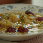 Roseanna's arroz caldoso (rice broth with pork, rabbit and cherries) recipe